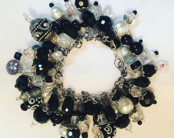 Black and White Chunky Bracelet