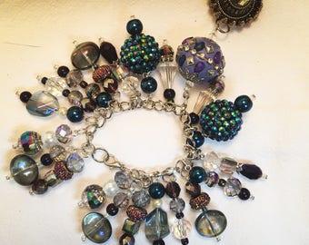 Purple and Blue Custom Made Bracelet