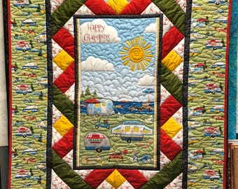 Happy Glamping quilt