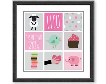Customizable baby model Cleo poster