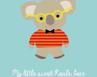 Koala bear kids poster