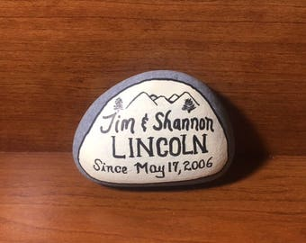 Personalized Hand Painted Rock (Priced 6.00-15.00