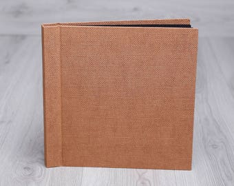 Photo album with black pages and debossing - Wedding photo album - Photoalbum - Debossed photo album