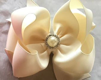 "4"" Double stacked hairbows"