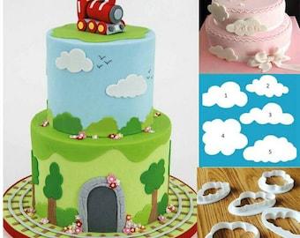 Cloud cutters, cloud cookie cutters, cloud fondant cutters, clouds, cloud mold, multiple cloud cutters