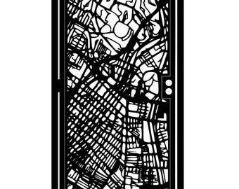 Modern Steel Gate - Los Angeles Steel Art - City Street Gate - Decorative Steel Panel - Durable Outdoor Gate - Urban Art Panel