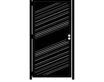 Decorative Steel Gate - Classic- Geometric Gate - Steel Panel Art - Privacy Wall - Room Divider - Modern Gate