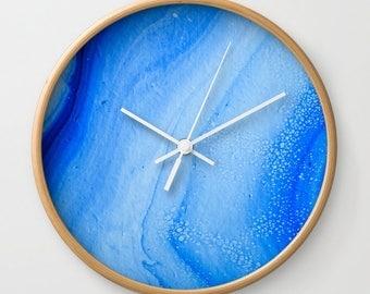 Wall Clock, Original Art Print Clock, Interior - Ocean Waves. Custom Order, Pre Order