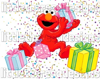 Elmo Birthday Boy Transfer,Digital Transfer,Digital Iron On,DIY