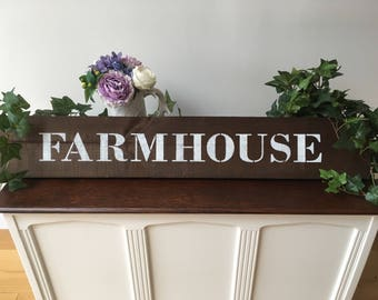 Farmhouse Wooden Sign - Handmade - Country - Home Decor