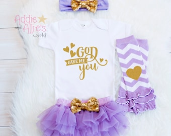 Baby Girl Shower Gift, Baby Girl Clothes, Baby Girl Outfit, Coming Home Outfit, New Mom Baby Gift, Christian Baby Gift, G1LG