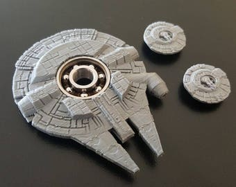 Custom Star Wars Millennium Falcon Fidget Spinner - EDC Desk Toy - Focus Tool