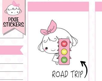 P156 | road trip planner stickers,road trip stickers,car stickers,,driving stickers,travel stickers,adventure stickers,roadtrip stickers