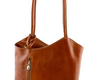 Genuine Leather Shoulder Bag and Backpack