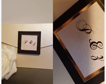 Ivory & black invitation