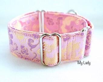 MY LADY - Martingale collar, fancy dog collar, Greyhound collar, Saluki collar, Galgo collar, Whippet collar, sight hound collar, wedding do