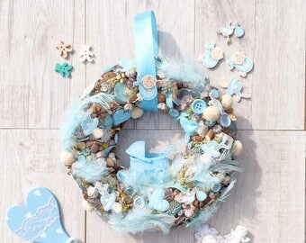 Wreath, Home decoration, Nursey room, Baby