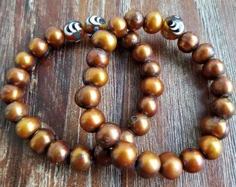 Fresh Water Pearls, Beaded Bracelet