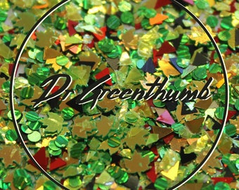 """Chunky Festival Glitter for Face & Body - """"Dr Greenthumb"""" Mix"""