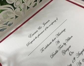 Stunning Lace Invitations Christmas Theme