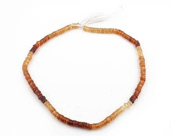 50% off Beautiful 1 Strand Hessonite Gemstone Faceted Center Drill Rondelles, Thin Heishi Beads 3mm 13.5 Inches GB019