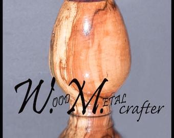 Turned Wooden Vase - 001