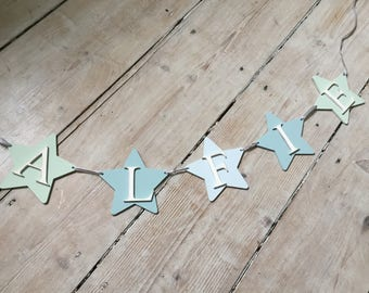 Personalised Bunting/Star Bunting/Nursery Decor/Party Decorations/Christening Gift/Baby Gift/Personalised Decorations