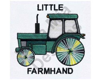 Tractor - Machine Embroidery Design, Little Farmhand