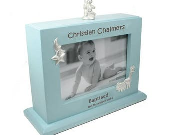 Personalised Engraved Baby Boy 6x4 Unique Photo Album Christening Baptism Gift New