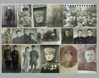 15 photos with the Soviet military people and jeep (1939-1945).