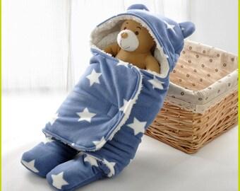 Fleece baby swaddle blanket