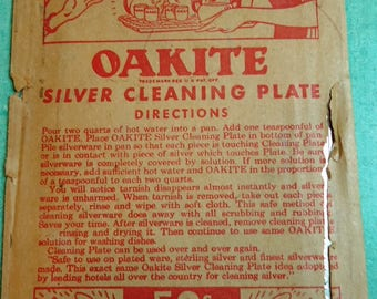 Oakite Silver Cleaning Plate Vintage Silver Flatware Cleaning Polishing Plate
