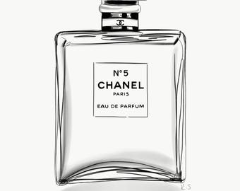 Chanel No5 bottle print