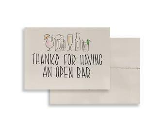 Thanks for having an open bar card