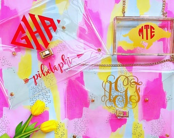 Stadium Approved Monogrammed Clutches