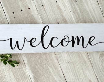 Welcome Sign, Wood Welcome Sign, Home Sweet Home Sign, Rustic Wood welcome Sign, Farmhouse Style Sign, Home Decor, Wood Wall Art
