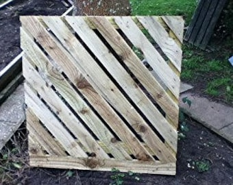 Wooden Stripped Garden Gate