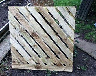 Wooden Striped Garden Gate