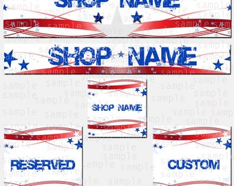 Etsy Store Banner, US Flag, Store Graphics, Etsy Shop Banner, Avatar, Graphic Design, Shop Icon, US FLAG Set, Reserved, Custom