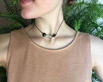 Black Glass Choker
