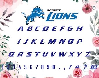 Detroit Lions Font Svg/Detroit Lions alphabet/Detroit Lions letters for Silhouette,Cricut, Print,Design and any more