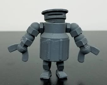 "9th Circle Robotics, ""Underhill"" model, Blank, Handmade Resin Art Toy Sculpture - Ready to be Customized for Your Faction"
