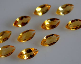 3x5 mm natural citrine marquise  faceted  loose gemstone AAA quality
