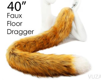 tail butt plug - bdsm - fox tail butt plug - butt plug - tail plug - sex - fox - fox tail plug – butt plug tail - bondage - faux – mature