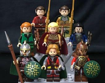 Seigneur des anneaux le jeu de figurines de Hobbit de 8 figurines personnalisées de LOTR