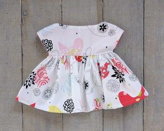 Modern Doll Clothes - Bird Cap Sleeve Dress