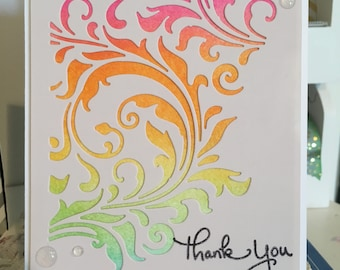 Thank You Card with Flourishes