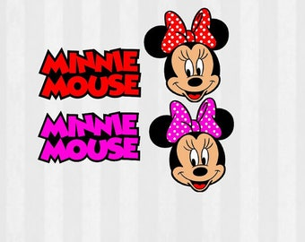 Minnie Mouse Clip art, Minnie Mouse clipart, svg cutting file, use as clipart, SVG for Silhouette or Cricut,svg minnie mouse, Minnie svg