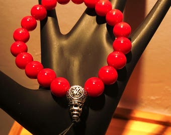 Men's Guru Red Bead Bracelet