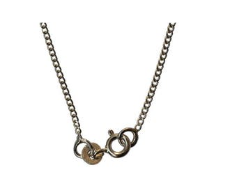 2 Pcs Sterling Silver Curb Chain – 42 cms (Pack of 2 Pcs) - 925 Silver Curb Chain - Sterling Silver - Wholesale Chains - Bulk Silver Chains